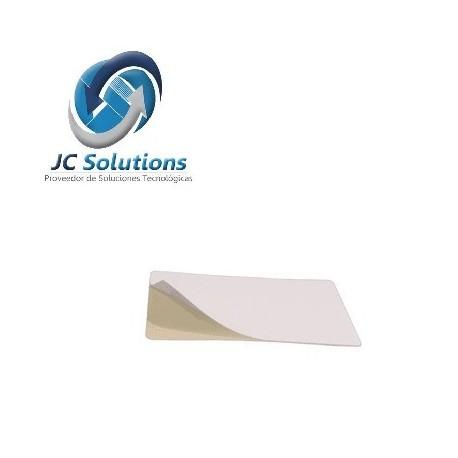 Tarjetas CR8010MYAB Blancas De PVC Con Adhesivo Blanco Paquete de 500