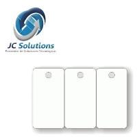 Tarjetas 800303UPGQ Blancas De PVC De 3 Llveros Cada Una Paquete de 500