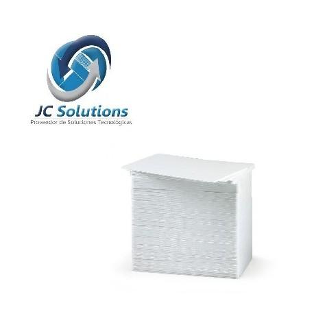 Tarjetas HICO CR80.30 De PVC Blancas Con Banda Magnética